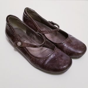 Ecco Sz EU 37/US 7 Brown Mary Jane Shoes